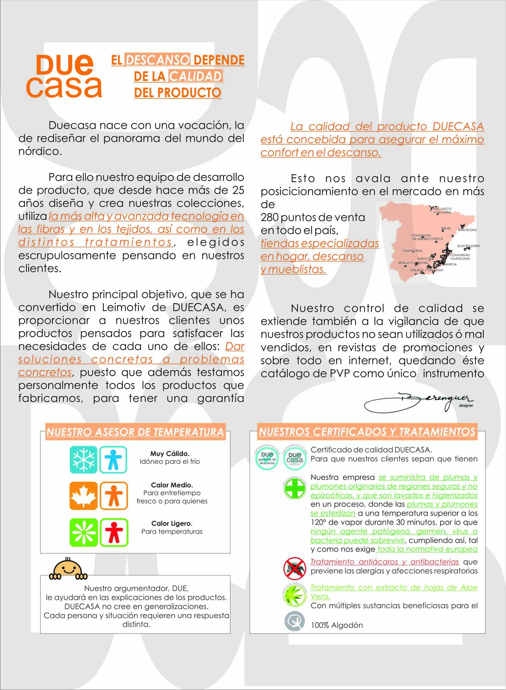 Información sobre Duecasa
